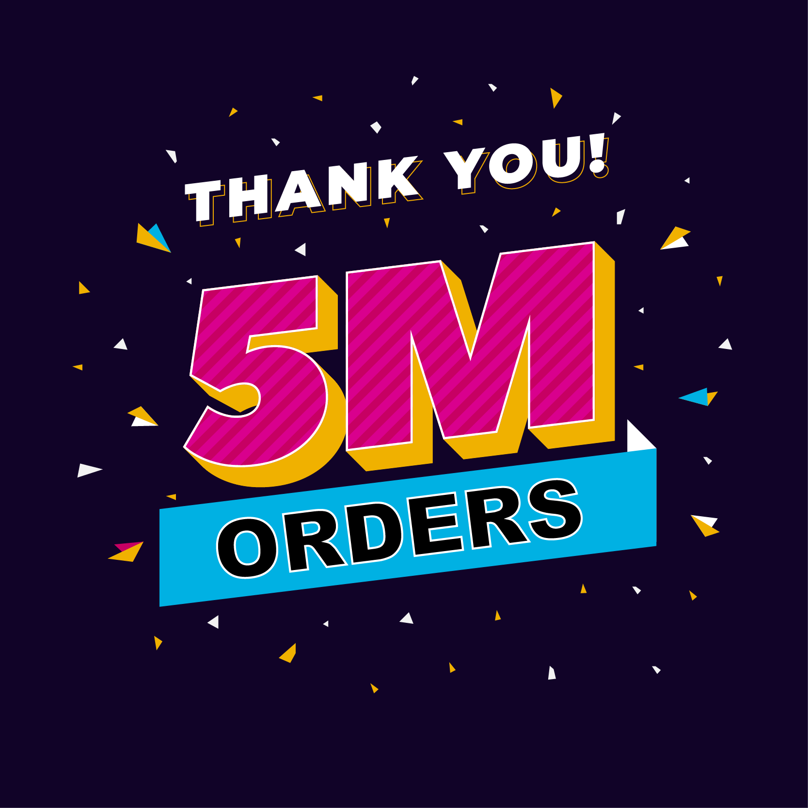 Celebrate 5 Million orders with us: Buy 3 services get 10% back