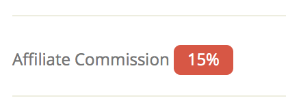 Set a custom affiliate commission on your services (API Searchable)
