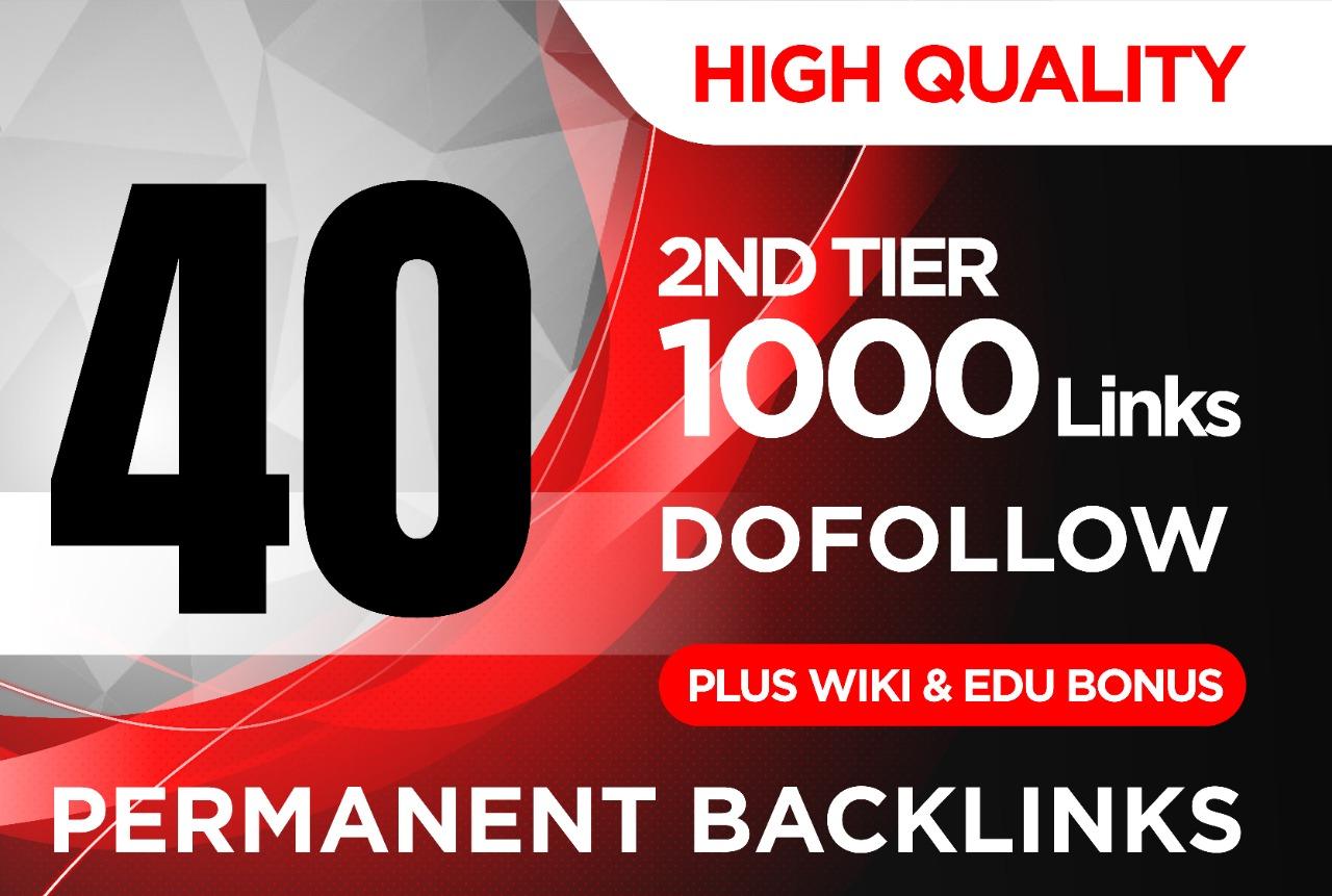 EDU + WIKI 40 Dofollow High pr Blog Manually contxtual link Then 1000 web 2.0 + wiki