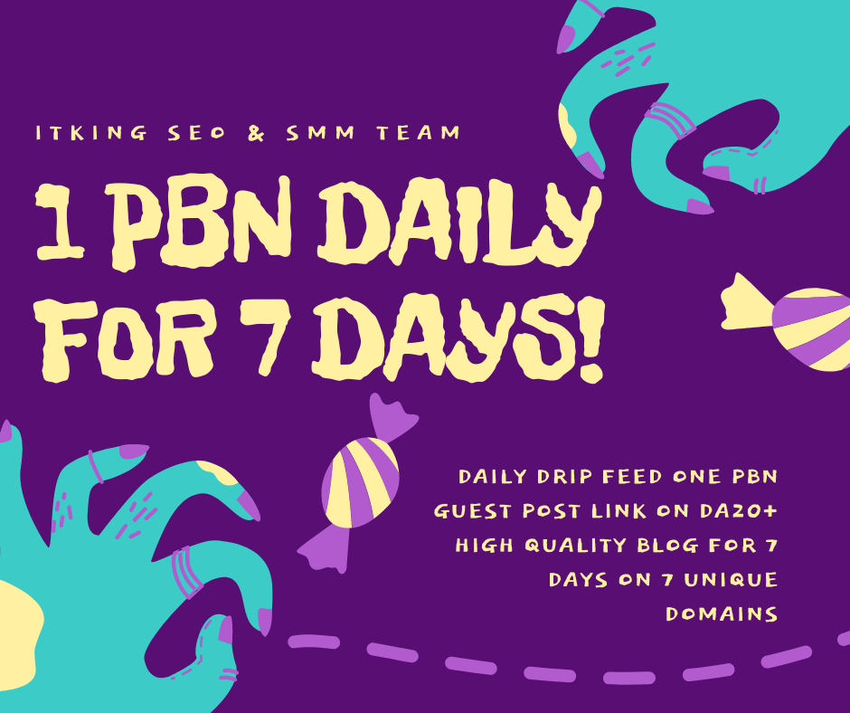 1 PBN Guest Post Daily for 7 Days