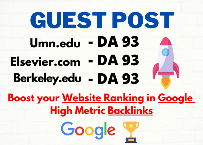 3 EDU Guest Posts Published on DA 93+ With Backlinks