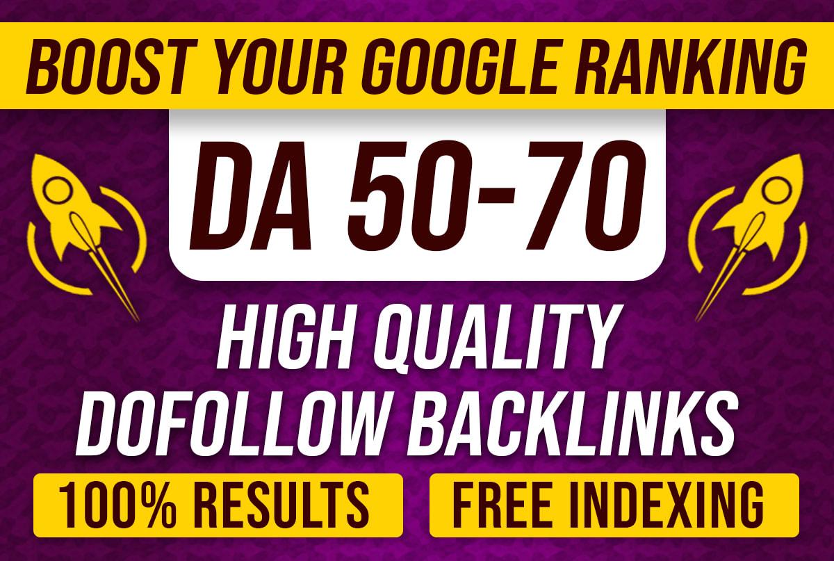I will create high authority TF,  DA,  DR 80 plus manual SEO dofollow backlinks