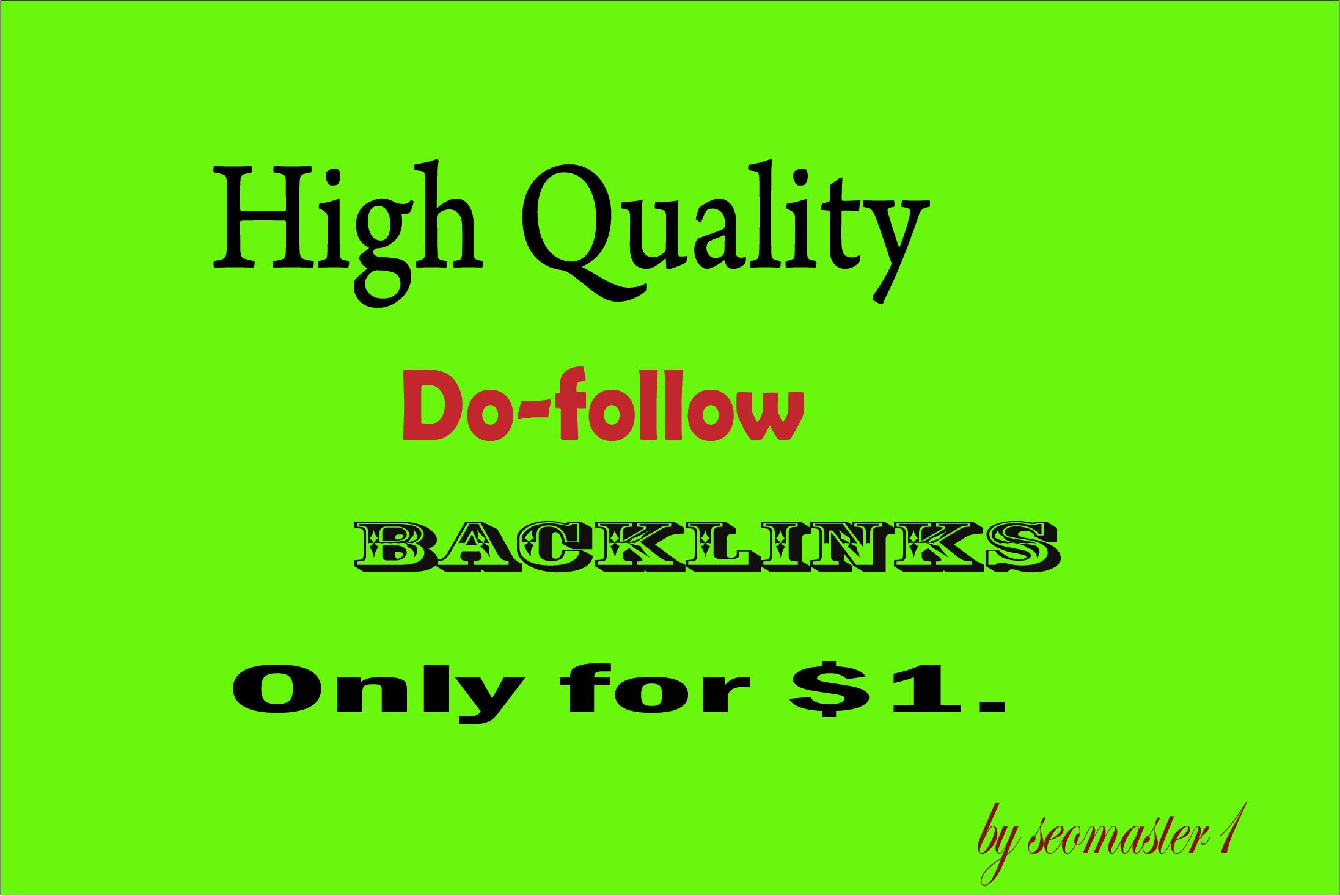 HQ 500 Do-follow Backlinks High DA