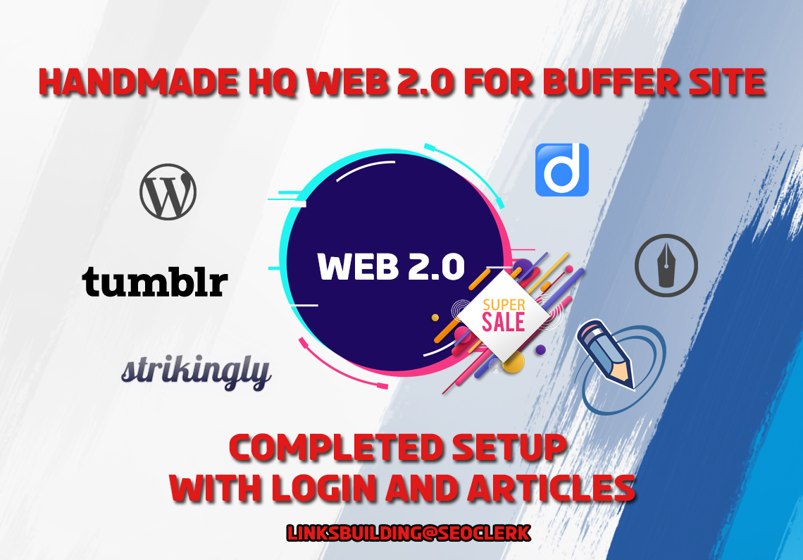 Manually Create HQ 15 Web 2.0 Blogs with Login and Article