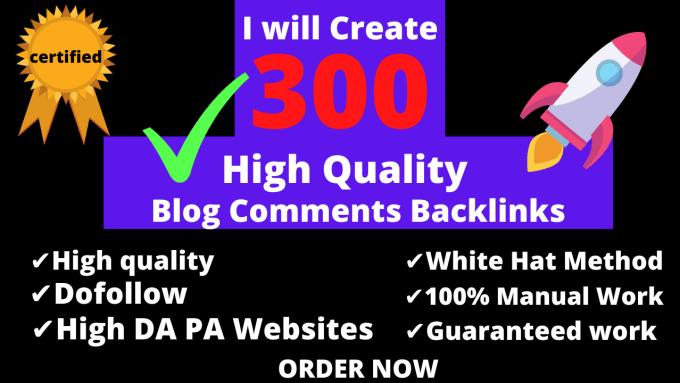 Do 300 Blog Comments Panda & Penguin Safe Backlinks High TF CF DA PA