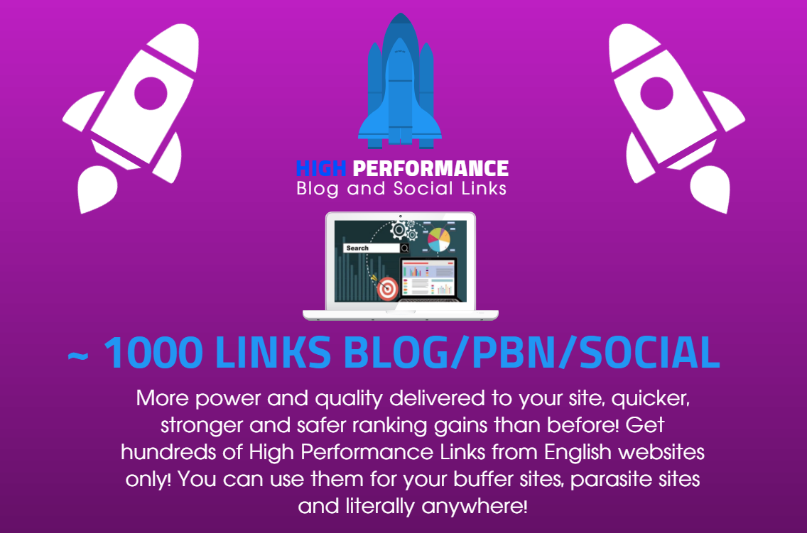 High Performance PBN Blog and Social Signals SEO Links - Decent metrics for SERP and Rank Increase