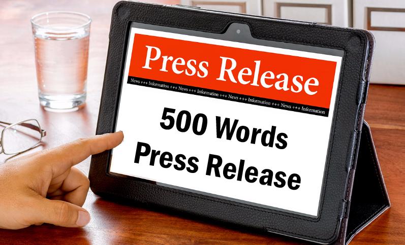 write a unique 500 words Press Release