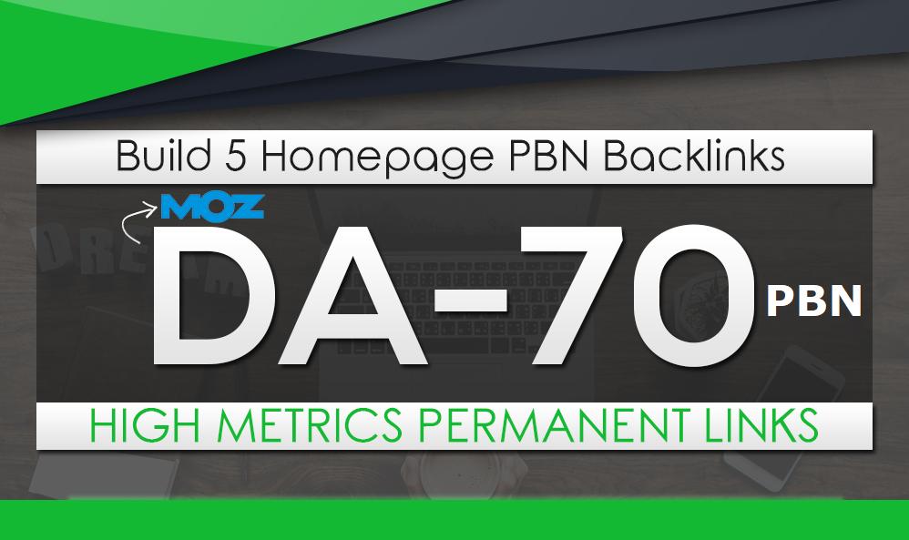 Build 5 HomePage Posts DA 70 Plus PBNs