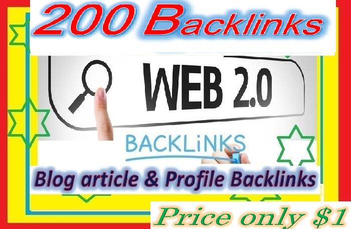 Will Create 200 Good PR Web 2.0 Backlinks helps to websites ranking