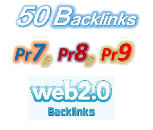 Manage 50 Pr9,  Pr8,  Pr7 Web2.0 Blog article Backlinks for Your Websites