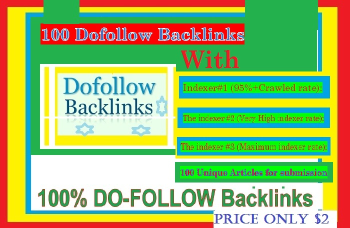 Manage 100+ Do-follow Backlinks mix platforms with Indexer 1,  2,  3 & Unique Articles for submission