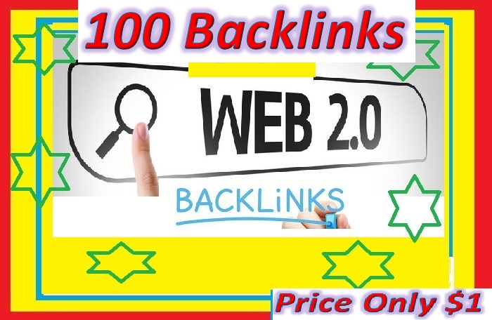 Will Provide 100 Web 2.0 blogs backlinks for your websites