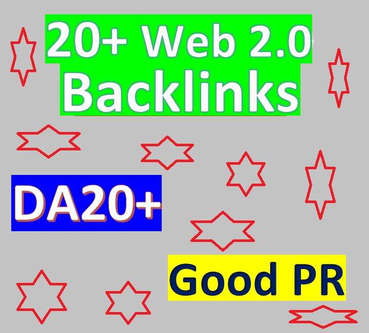 Manage 20+ Web2.0 Blog Backlinks DA20+ & Good PR for Your Websites