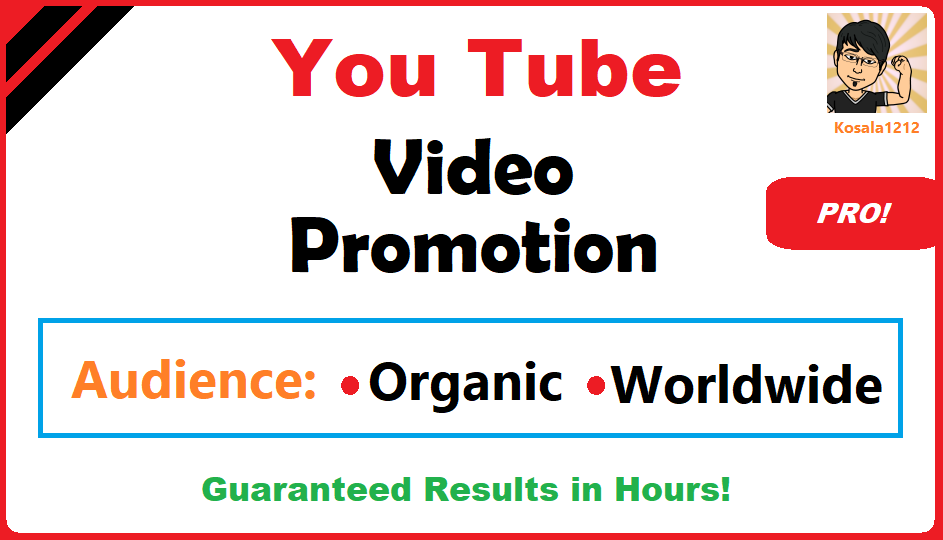 YouTube Video Viral Marketing Promotion Pro Package 1