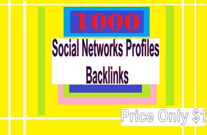 Manage 1000 + Social Networks Profile Backlinks for Your Website