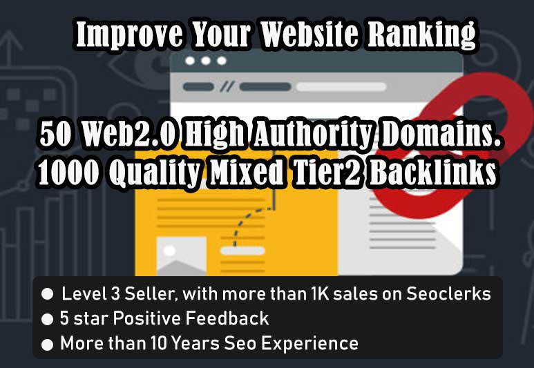 I will Create 50 web2.0 Blogs for your website