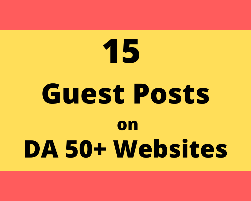15 Guest posts on DA 50+ websites home page
