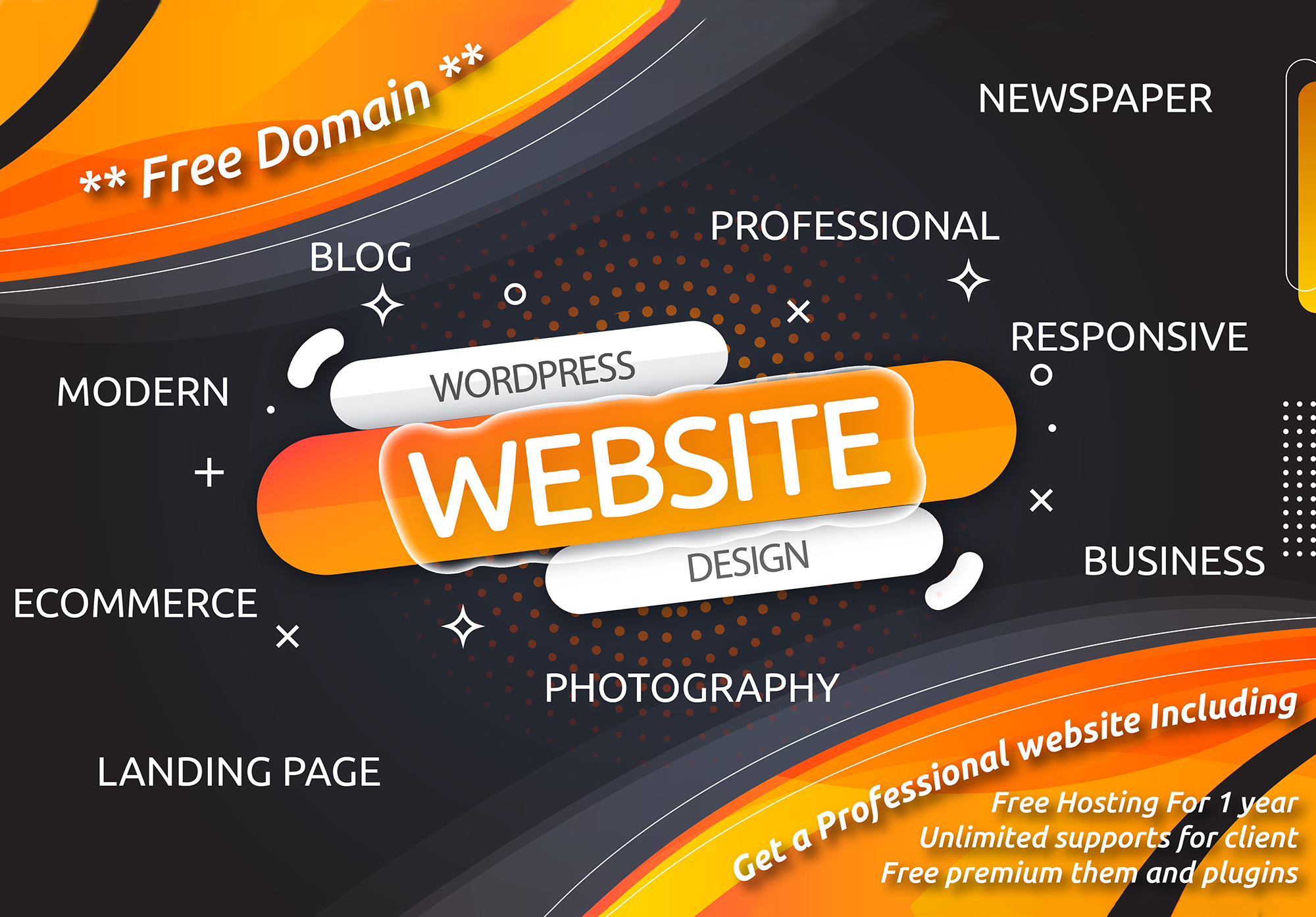 I will build a responsive high quality wordpress website design