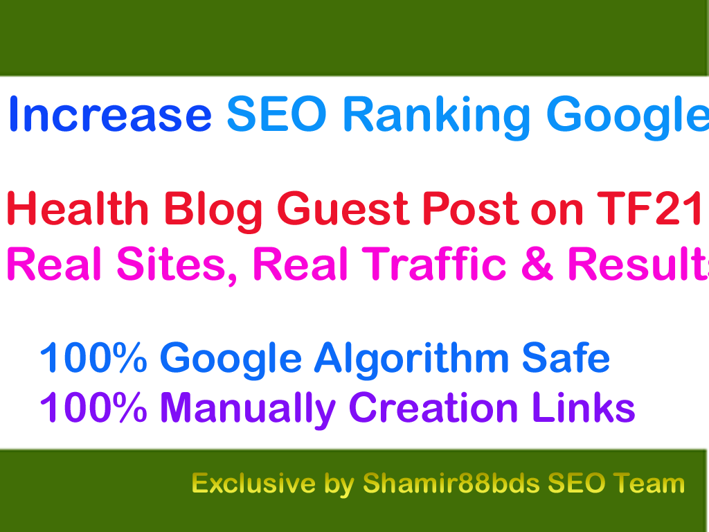 Health Blog Guest Post on DA27 with 2K Visitor to Rank Higher