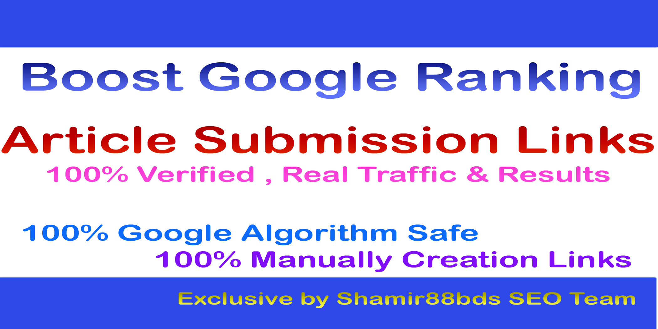 Verified 20 Article Submission Links DA50+ to Boost Google Ranking