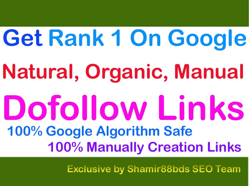Unique 500 DA50-100 Best Dofollow Links To Rank 1 On Google
