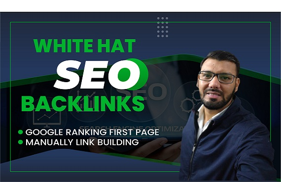 give amazing backlinks white hat manual organic link building google top ranking