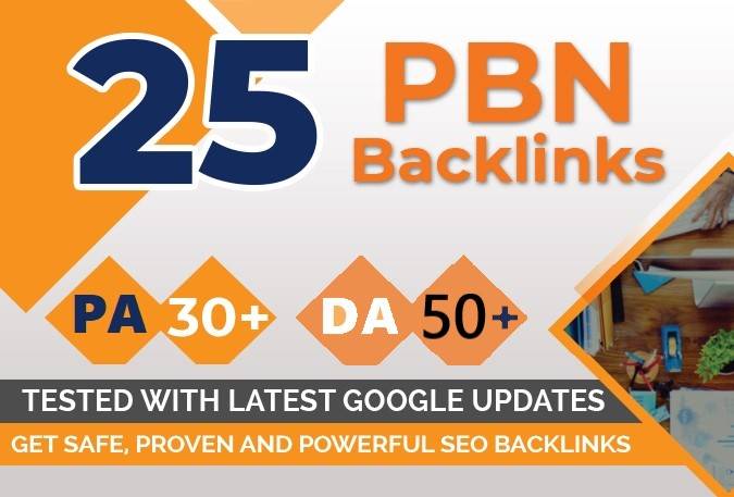 I will provide extremely powerful 25 homepage pbn da 50 plus to rank booster