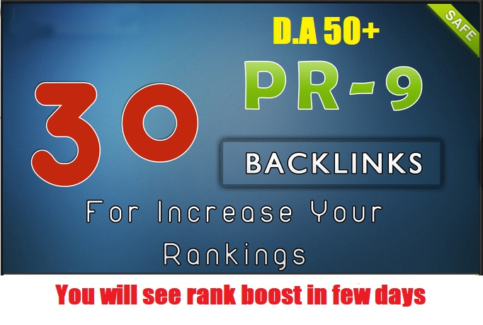 30 DA 50+ Powerful Backlinks to Boost your rank