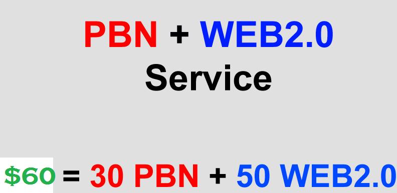Cheap But Powerful PBN + Web2.0 Service