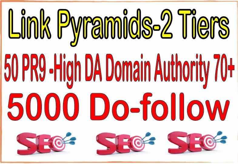 50 PR9 -High DA Domain Authority 70+ SEO Backlinks & 5000 Do-follow For Your Website Power Your Ti