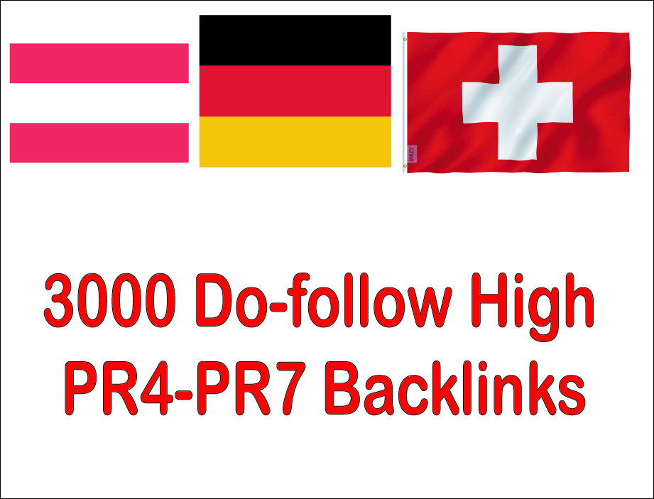 Get 3000 Do-follow High Authorized Google Dominating german,  austria,  switzerland Backlinks