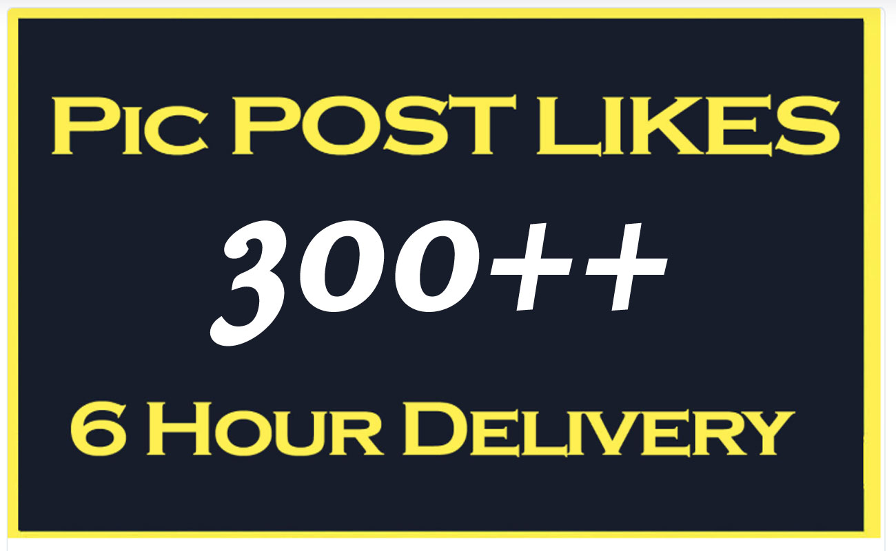 Instant Start 300 Social Pictures Post Promotion