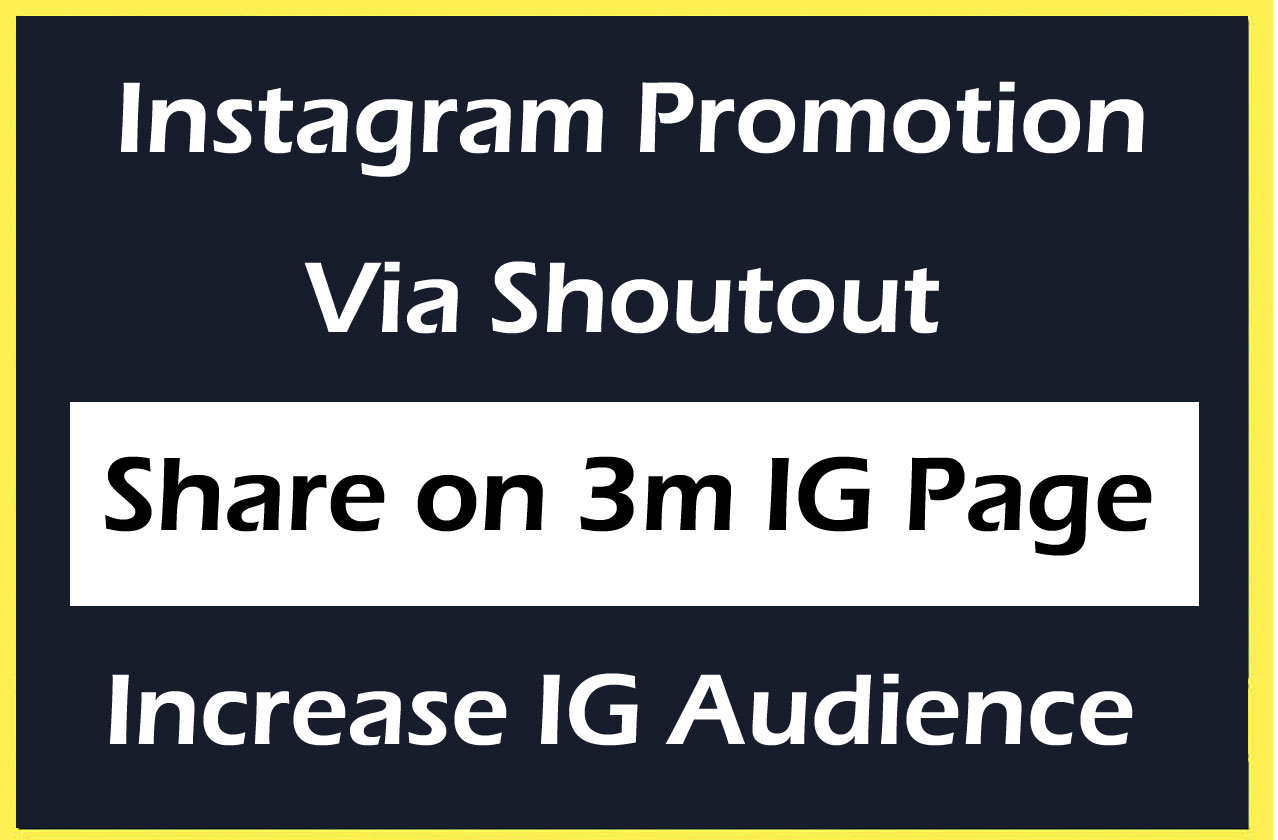 Instagram Promotion on my 3M IG Profile via Shoutout and Increase Followers