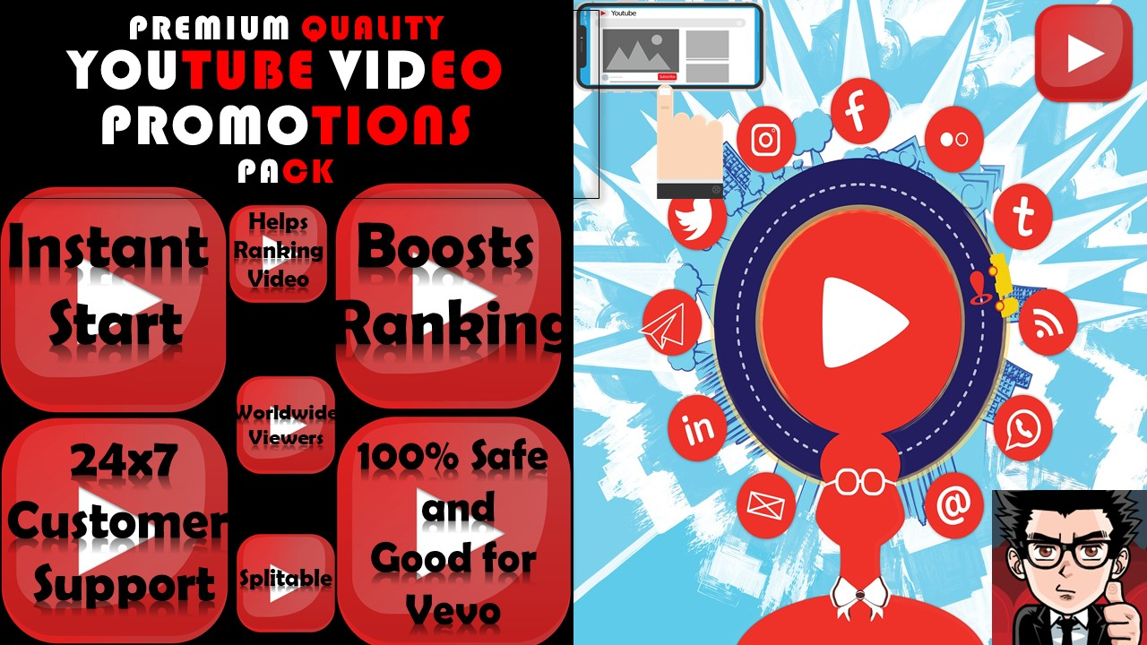 HIGH SPEED Premium YouTube Video Promotions 5k Youtube Marketing Service