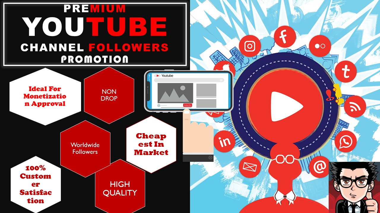 Real High Quality Channel Promotions Pack Social Media Marketing