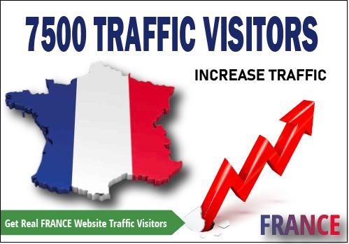 7500 Real FRANCE Website Traffic Visitors