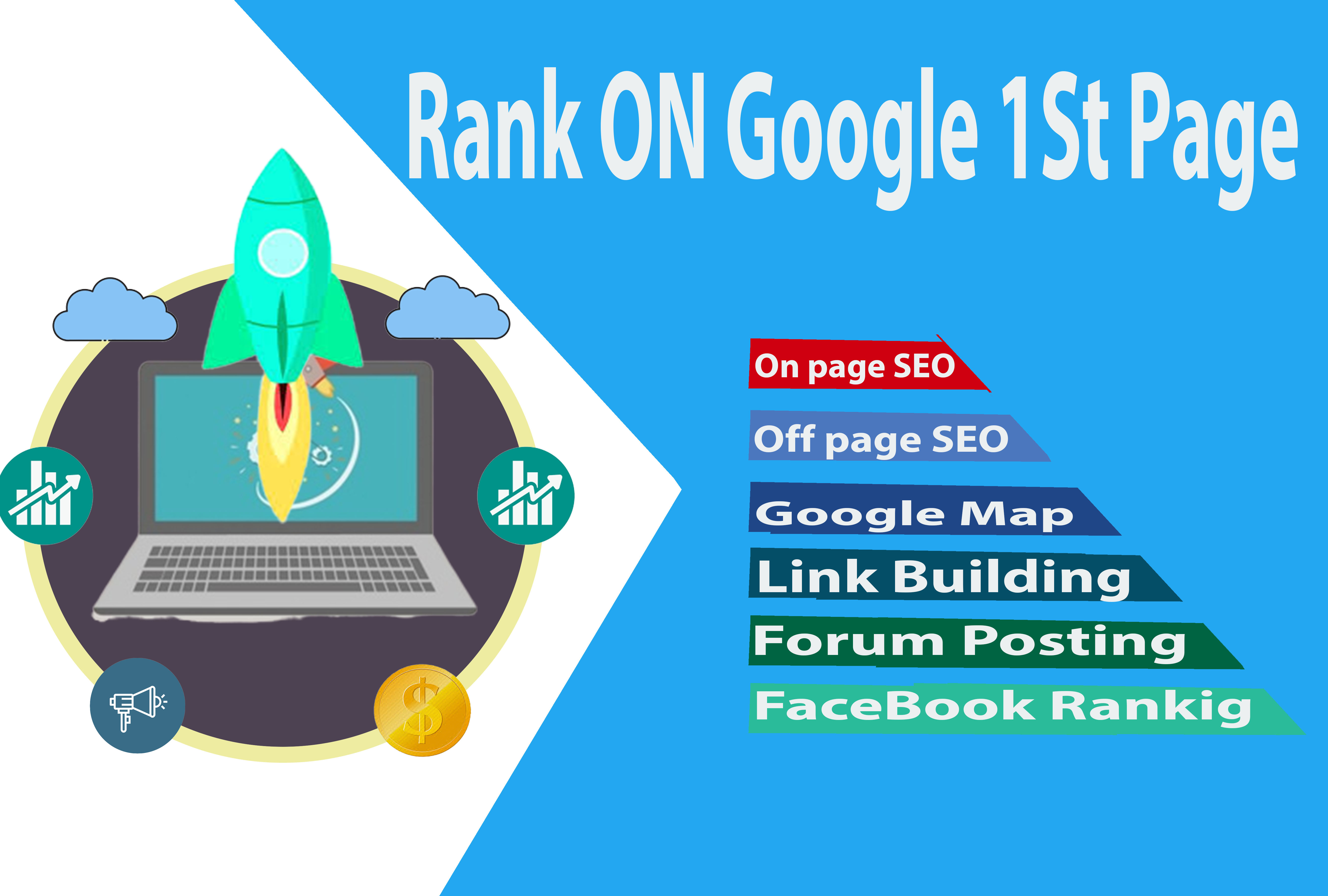 Google 1st Page ranking your website with white hat SEO