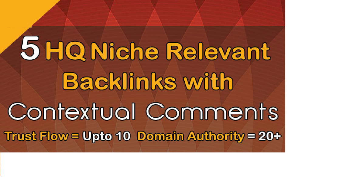 do 5 niche relevant backlinks with contextual comments