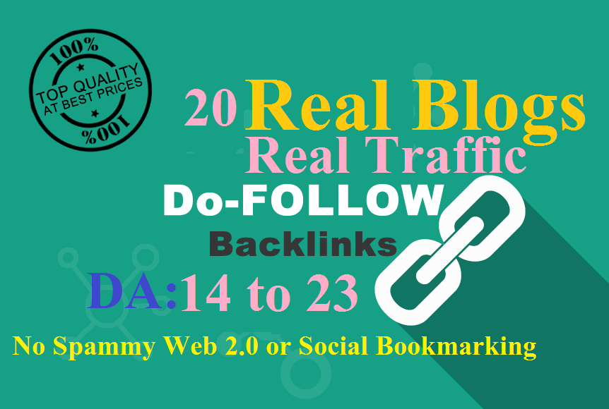 Ranking Boost with 20 Backlinks Real Blog Posts - DA 14 to 23