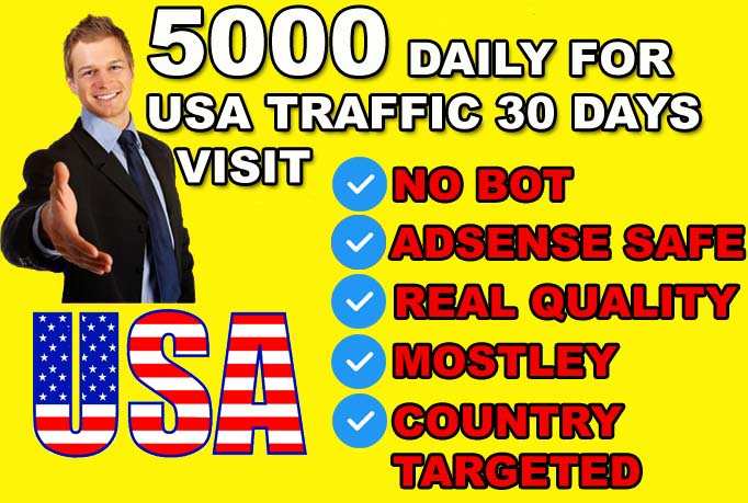 i will give send 150k super targeted usa website