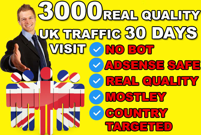 United Kingdom Real organic Visitors To Your Website