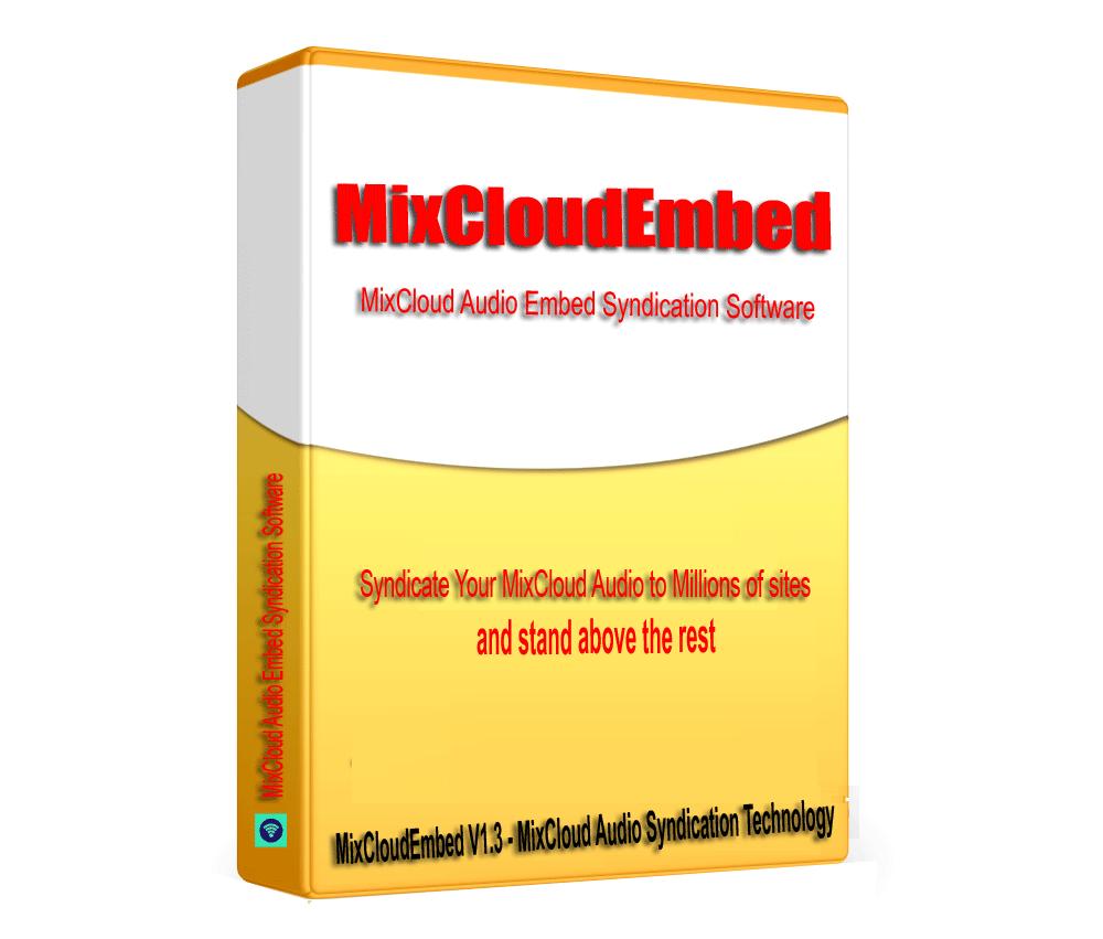 MixCloudEmbed -MixCloud Audio SEO Embed Syndication Software V1.3