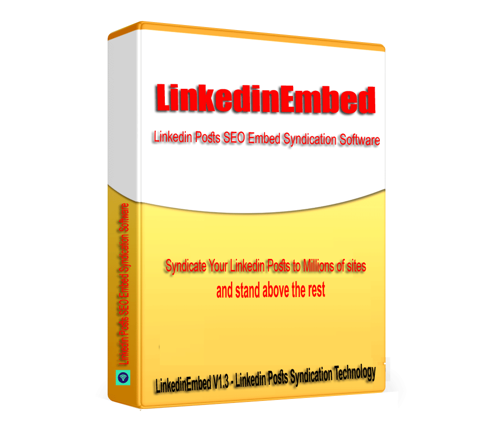 LinkedinEmbed - Linkedin Post Embed Syndication Software V1.3