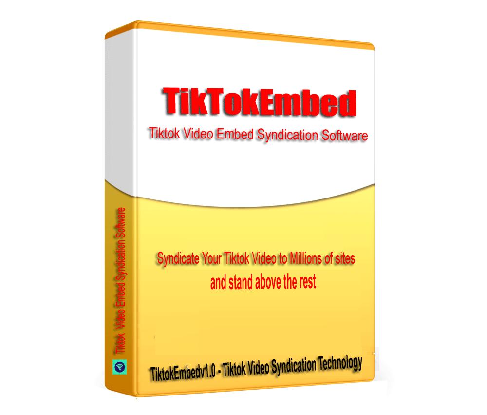 TikTokEmbed - TikTok Video Embed Syndication & SEO Embed generator software V1.0.1