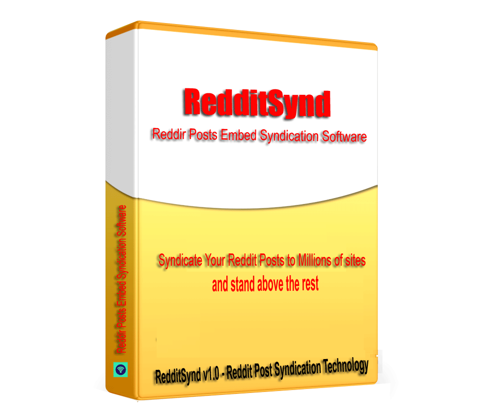 RedditSynd - Reddit Posts Embed Syndication Software V1.0.1