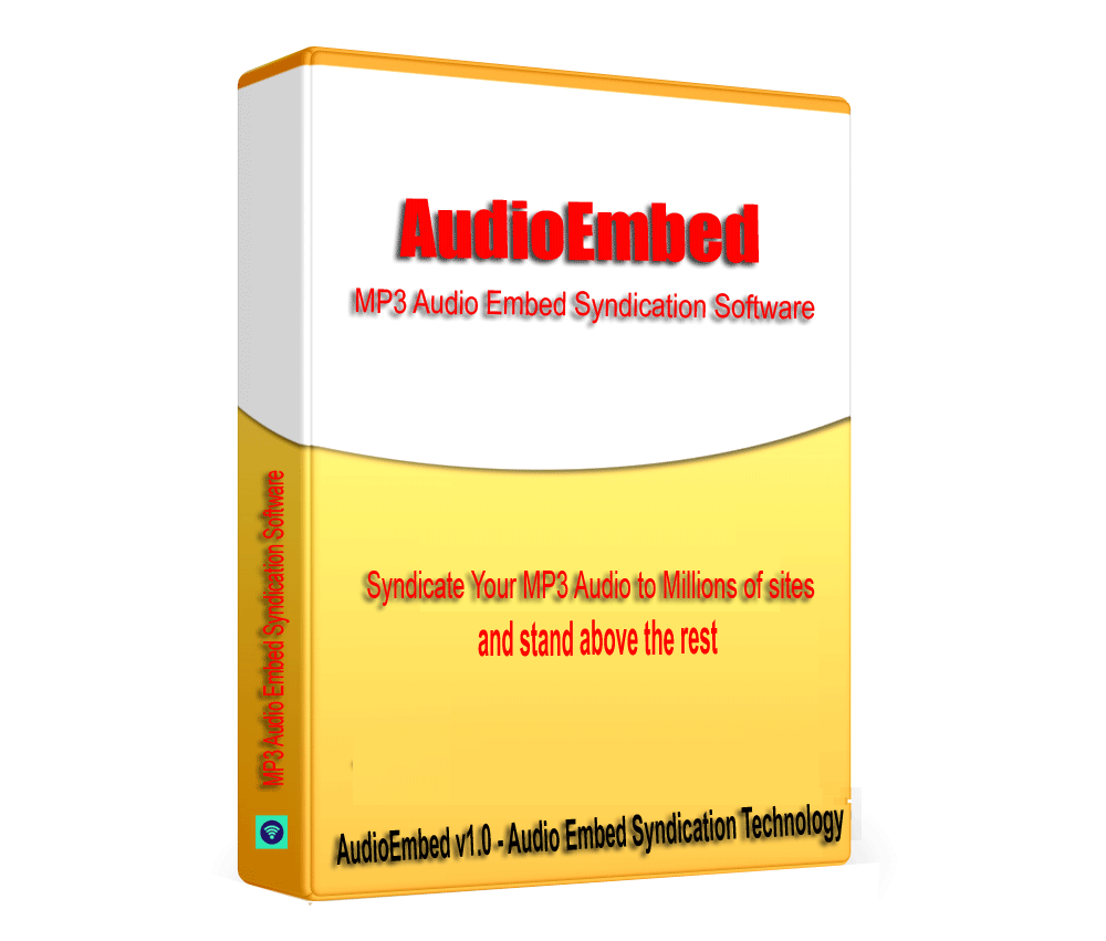 AudioEmbed - SoundCloud MP3 Audio Embed Syndication Software V1.0.1