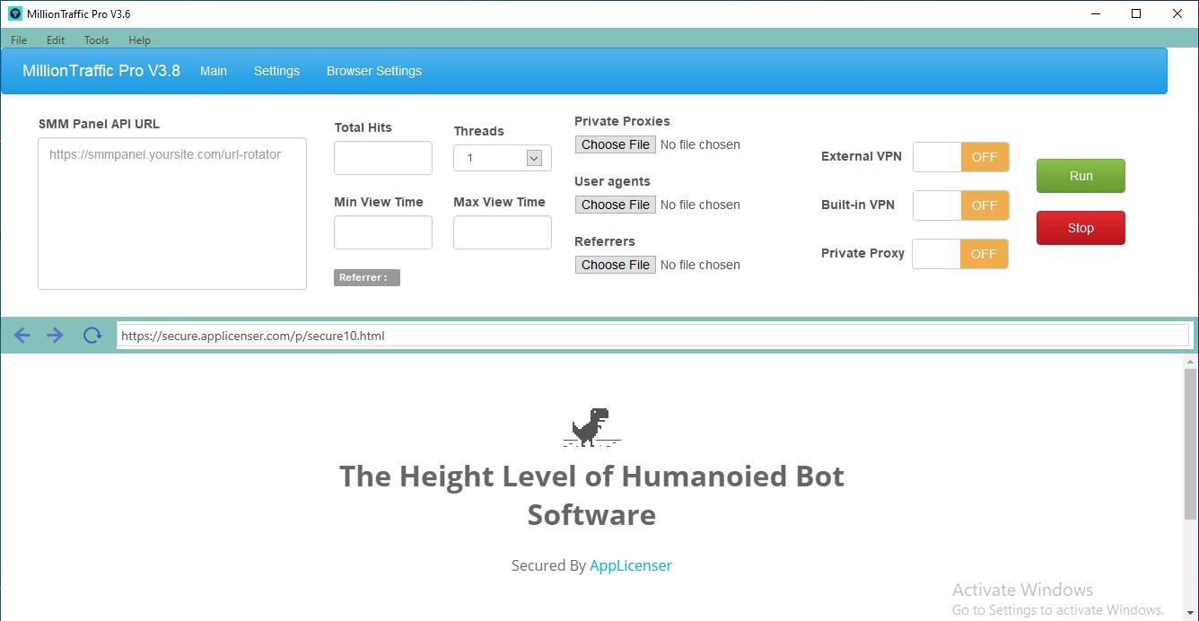 MillionTraffic Pro V3.9 - 2021 Edition - G. Analytics Visible Million Traffic Bot Software