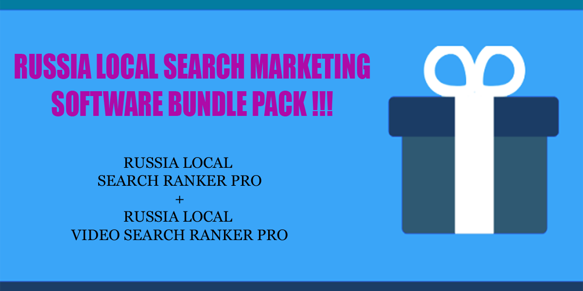 Russia local search ranker software bundle pack