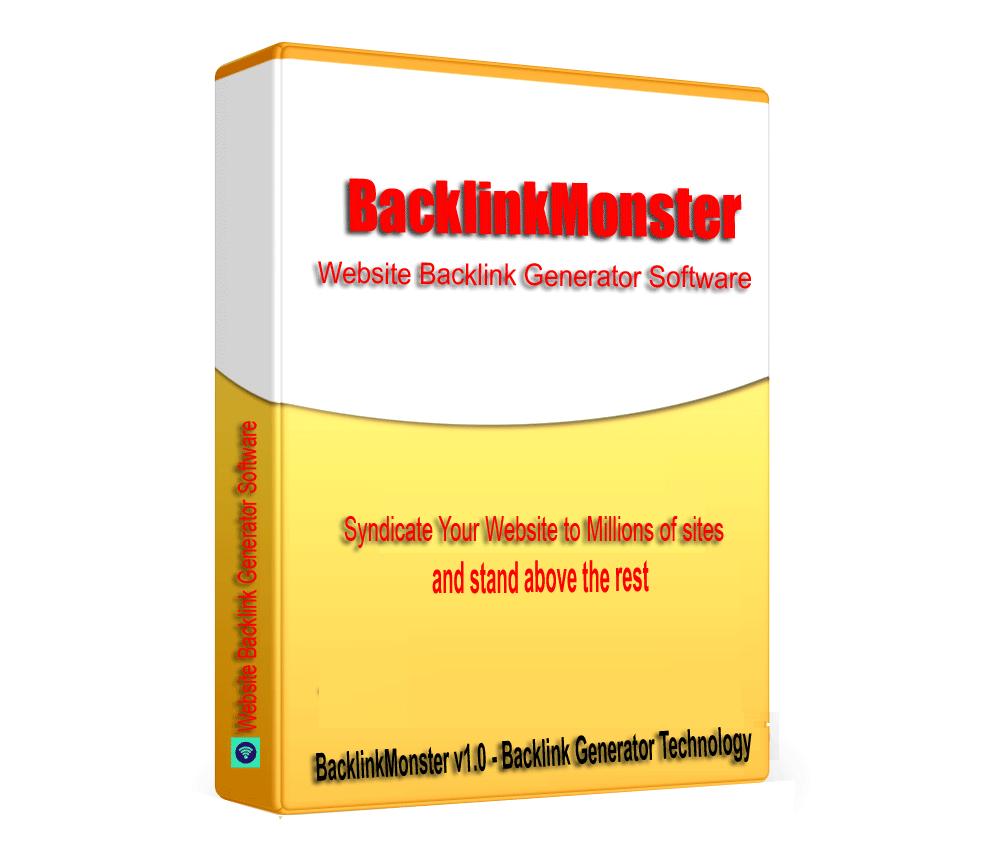 BacklinkMonster - Website SEO Backlink Generator Software