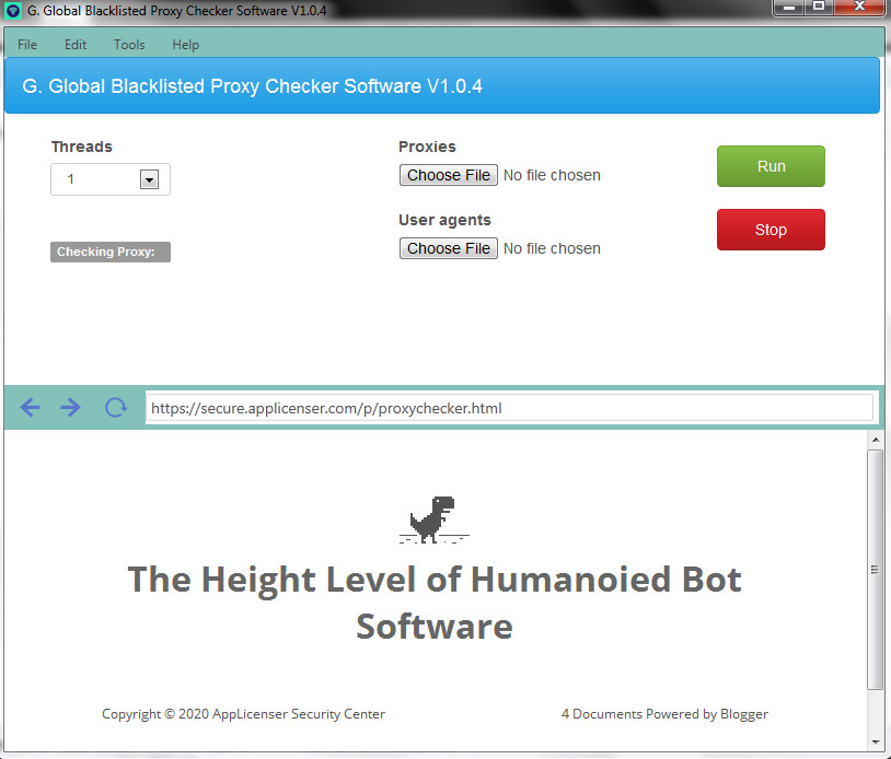 G. Global Blacklisted Proxy Checker And Verifier Software V1.0.5